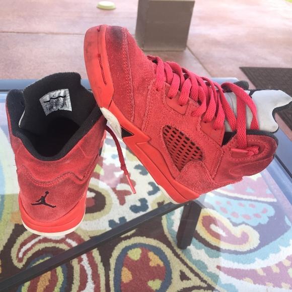 be2b1ffa2f4f jordan Other - Nike Air Jordan 5 Retro Red Suede Basketball Sz 12
